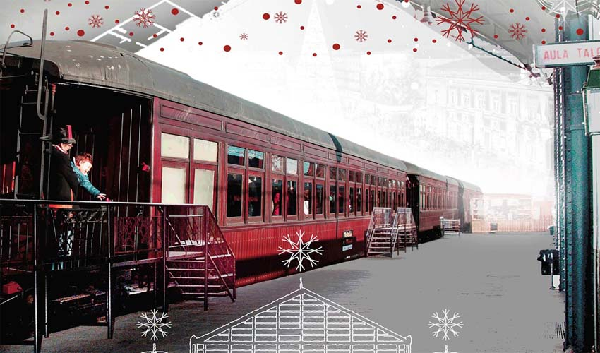 Súbete al tren de la Navidad