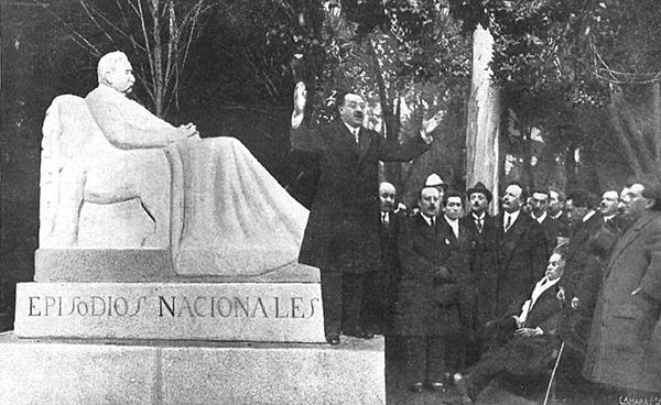 La inauguración del monumento a Galdós en el periódico Nuevo Mundo de 1919 - Galdós: el mejor cronista de Madrid