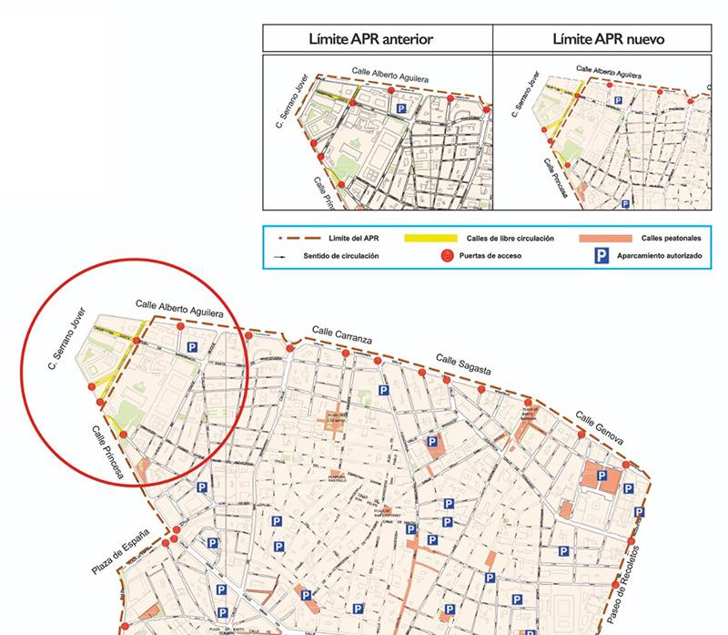 Mapa Mártires de Alcalá copia - Cambios en el mapa de calles prohibidas en Madrid Central