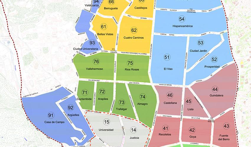 Apréndete los números de las zonas SER de Madrid
