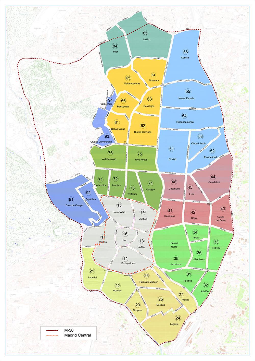 area del servicio de estacionamiento regulado ser alta resolucion - Apréndete los números de las zonas SER de Madrid