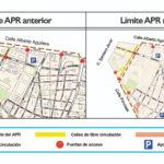 Cambios en el mapa de calles prohibidas en Madrid Central