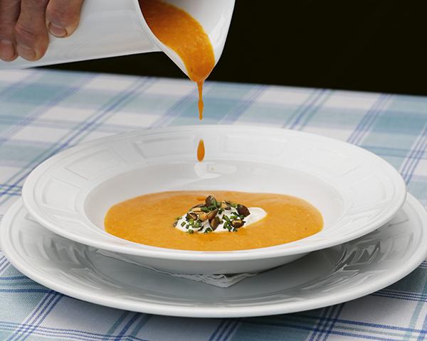 Crema de calabaza Narciso - 4 grandes recetas para días de frío y los restaurantes donde disfrutarlas