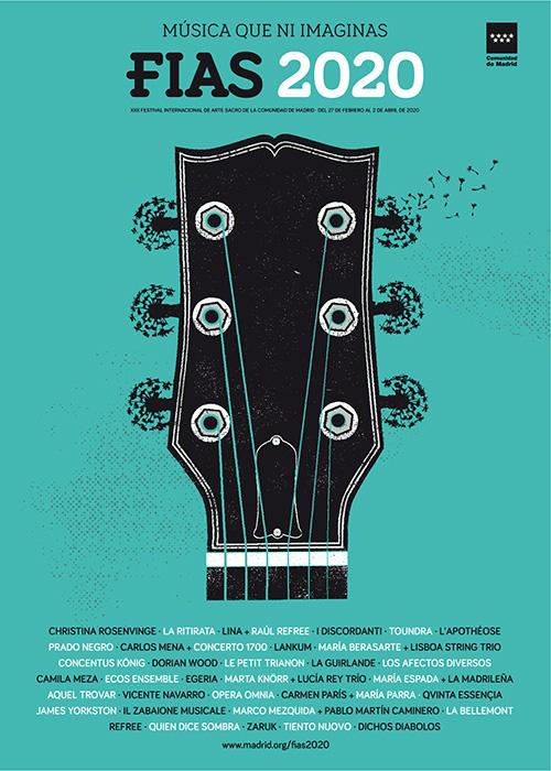 FIAS2020 cartel - Christina Rosenvinge estrella del cartel del Festival de conciertos de Arte Sacro