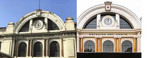 Fachada sin reparar - La Estación Norte se reinaugura como Teatro La Estación