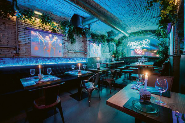 Planta baja cueva mesas Amargo place to be - 2 restaurantes de Madrid que te van a gustar