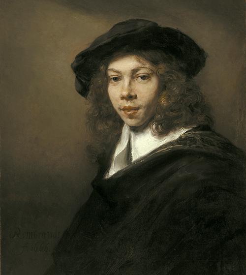 Rembrandt Joven boina GRND - Rembrandt retratista en el Thyssen