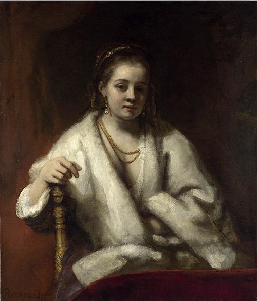 Rembrandt Mujer abrigo GRND - Rembrandt retratista en el Thyssen