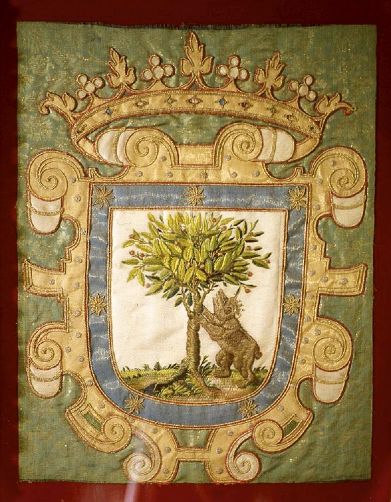 Estandarte de Madrid escudo oso y madono siglo XVII entre 1675 y 1725 - Escudo de Madrid: la osa y el manzano