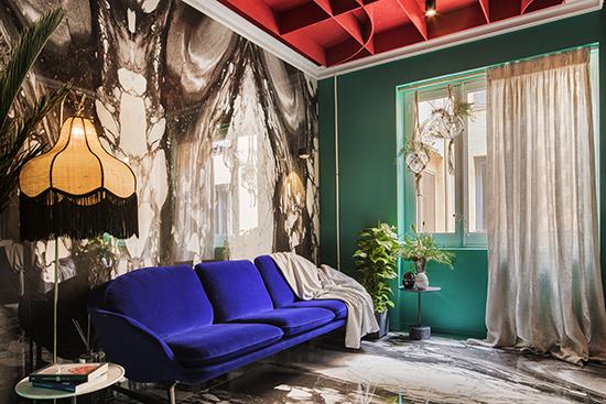 casa decor 20 sala de television Antro Design 02 - Casa Decor 2020 apuesta por los materiales orgánicos como tendencia en decoración