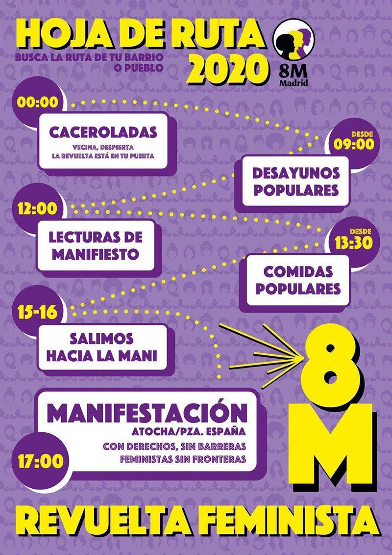semana8M - La manifestación feminista del 8M comienza a las 17h. en Atocha