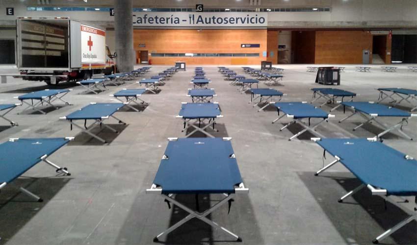 Ifema se prepara para acoger a 150 personas sin hogar