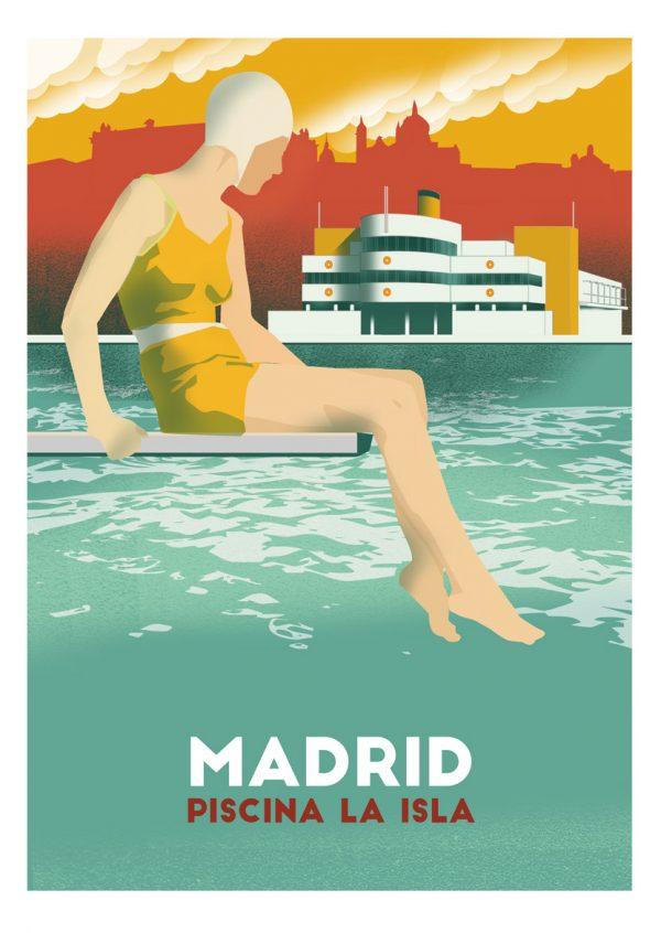 """isla 01 w 600x846 1 - El """"Madrid vintage"""" de la artista Tina Paterson"""