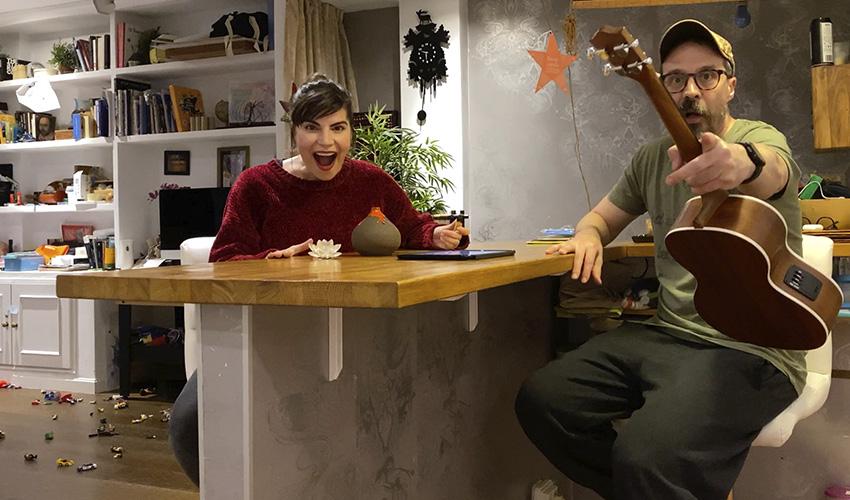 """Actriz confinada. Mónica Regueiro: """"Admiro a la gente capaz de hacer humor en situaciones complicadas"""""""