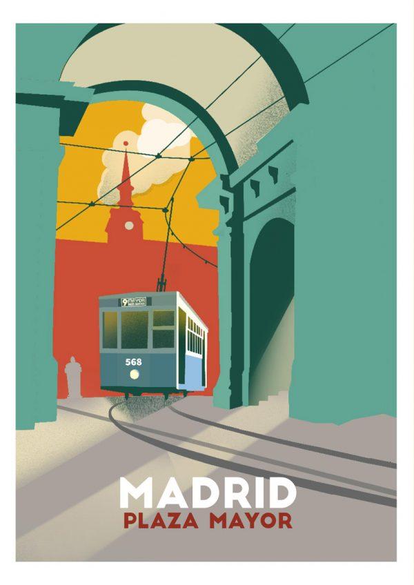 """plazamayor w 600x848 1 - El """"Madrid vintage"""" de la artista Tina Paterson"""