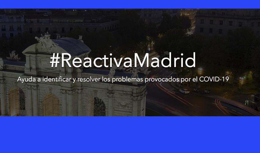 #ReactivaMadrid: El Ayuntamiento busca ideas para paliar los efectos del coronavirus