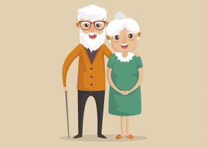 2 ancianos 300x215 - Franjas horarias para salir de casa a partir del 2 de mayo. Desescalada Fase 0.