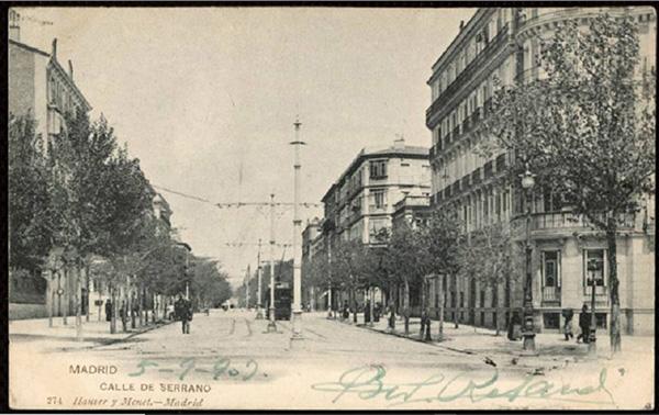 CalleSerrano en 1903 Hauser Menet MemoriadeMadrid  - El Paseo de la Castellana cumple 160 años. Esta es su historia