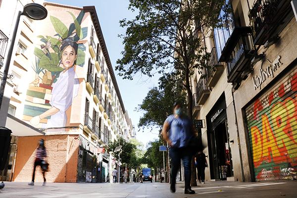 calle fuencarral - De compras con mascarilla. Fase 1