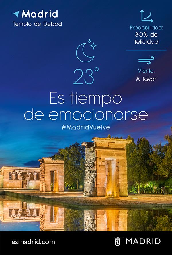 Columna Es tiempo Volver Templo - Madrid lanza una campaña para reactivar el turismo