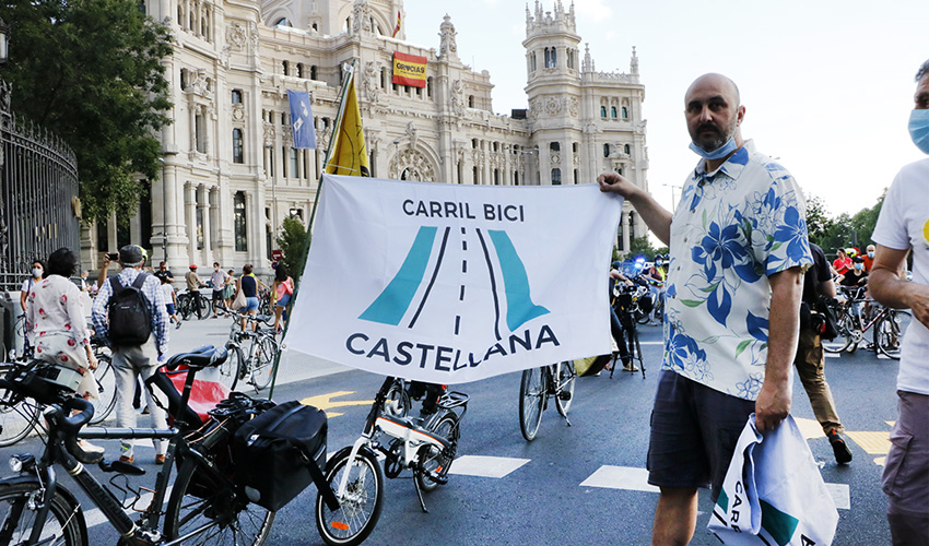 Asociaciones ciclistas piden un carril bici en La Castellana