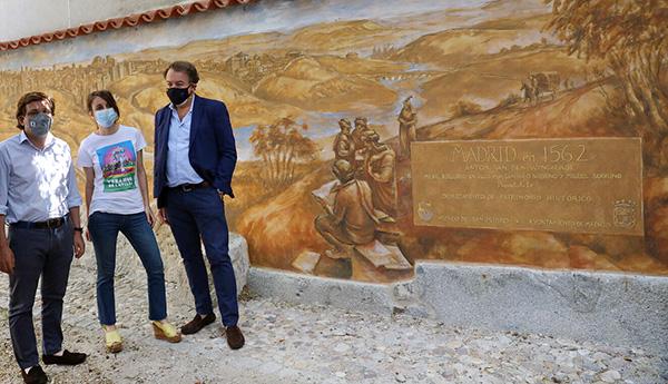 alcalde muralla cristiana madrid - Inaugurada la muralla cristiana de Madrid tras su restauración