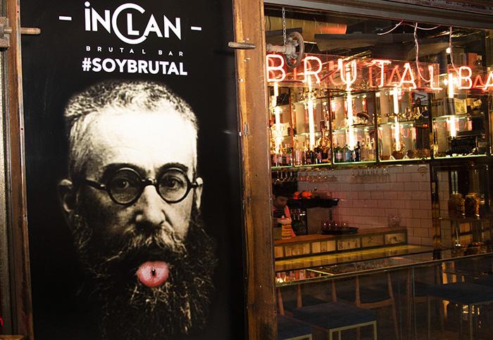 fachada brutal bar - Brutal Bar: temperamento, genio y diversión