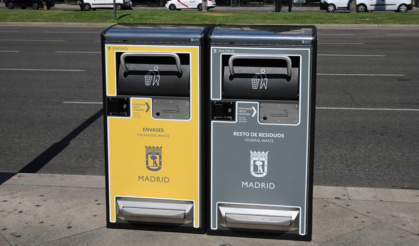 1300 papeleras inteligentes para Madrid