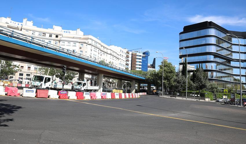 Comienzan las obras de desmantelamiento del puente de Joaquín Costa