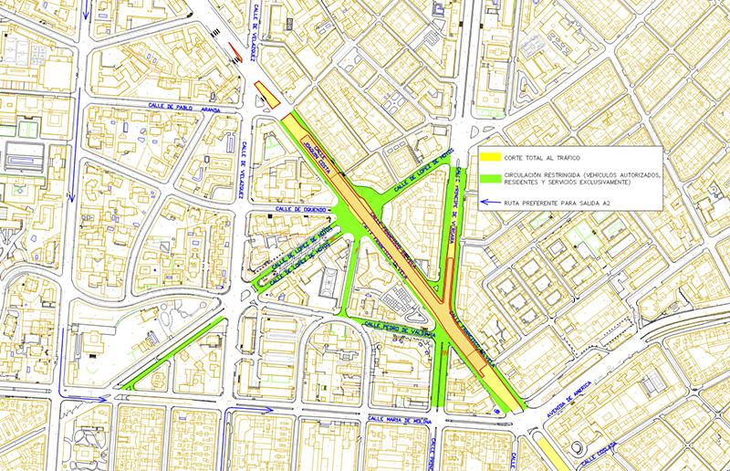 puente Joaquin Costa plano Madrid - Comienzan las obras de desmantelamiento del puente de Joaquín Costa