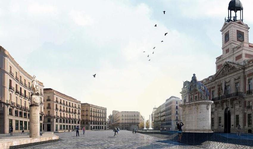 La Puerta del Sol ya es totalmente peatonal