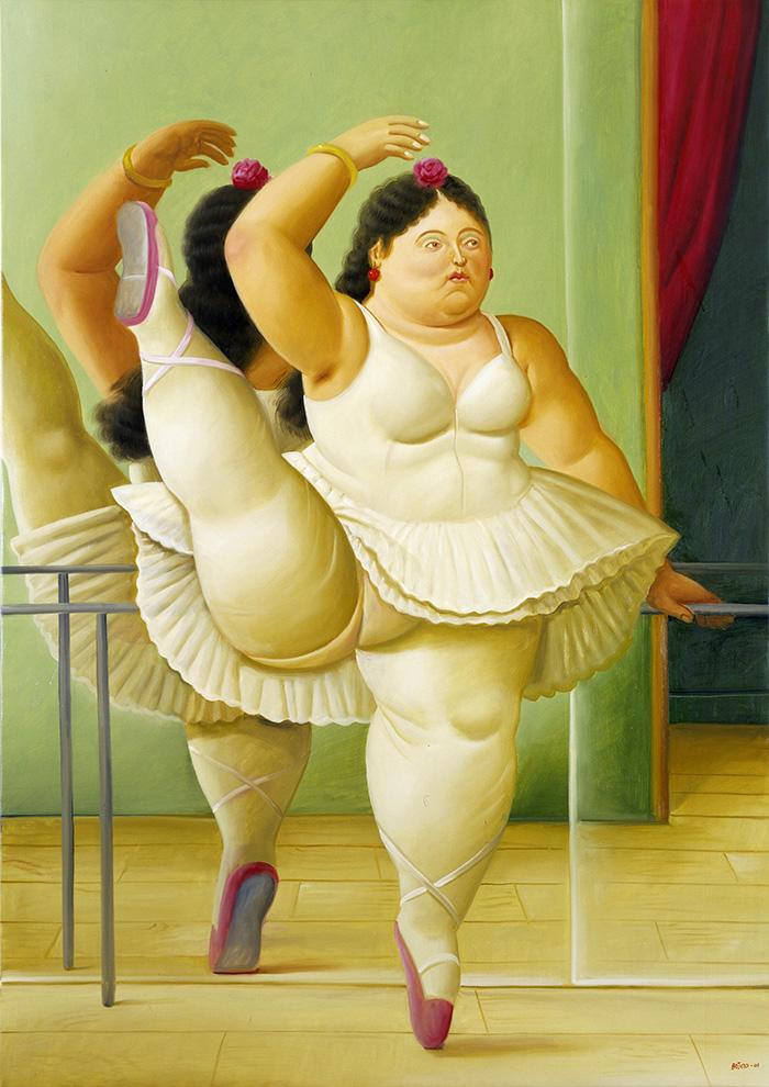 Fernando Botero Bailarina en la barra 2001 oleo sobre lienzo - Botero expone en Madrid 67 obras que explican 60 años como artista