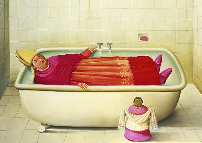 Fernando Botero El baño del Vaticano 2006 oleo sobre lienzo - Botero expone en Madrid 67 obras que explican 60 años como artista