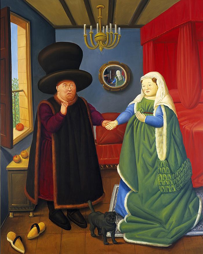 Fernando Botero The Arnolfini según Van Eyck 2006 oleo sobre lienzo lien - Botero expone en Madrid 67 obras que explican 60 años como artista