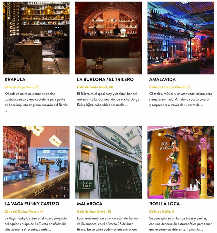 bares de Madrid - Madrid Cocktail Week, la hora de brindar por nuestros bares