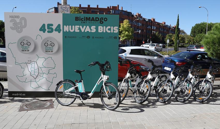 454 bicicletas eléctricas más para Madrid sin base fija