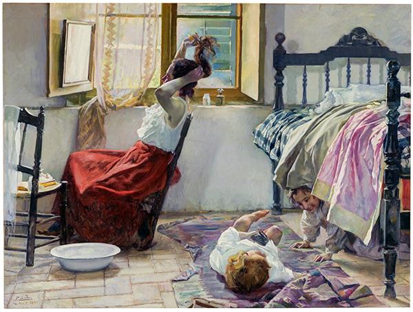 """La toilette - Una exposición del Museo del Prado indaga sobre la mujer """"como invitada incómoda"""" en el arte del siglo XIX"""