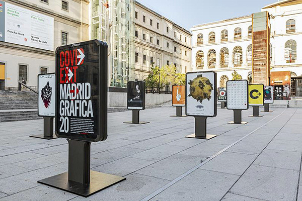 coid exit Madrid 001 - 600 carteles de diseñadores de todo el mundo llenan Madrid con su visión sobre el COVID