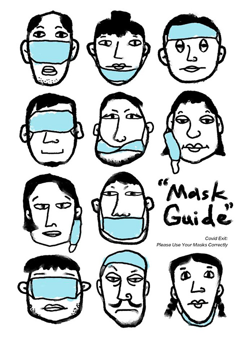 coivd exit Madrid Qian Meiqui China - 600 carteles de diseñadores de todo el mundo llenan Madrid con su visión sobre el COVID