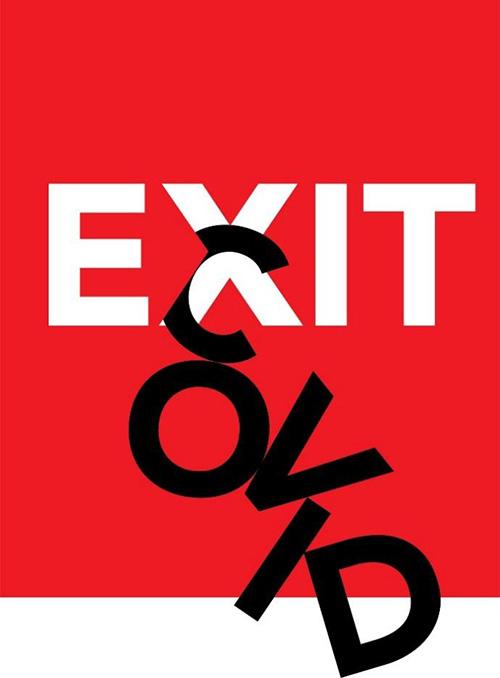 covid exit Madrid Félix Beltrán México - 600 carteles de diseñadores de todo el mundo llenan Madrid con su visión sobre el COVID