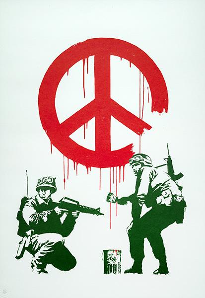 Banksy CND SOLDIERS - La exposición no autorizada de Banksy llega a Madrid