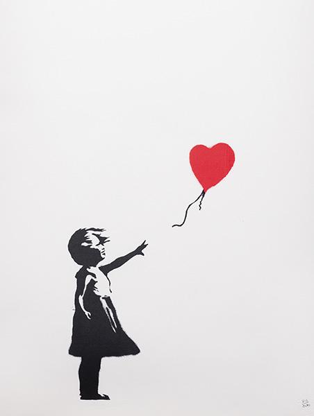 Banksy GIRL WITH BALOON - La exposición no autorizada de Banksy llega a Madrid
