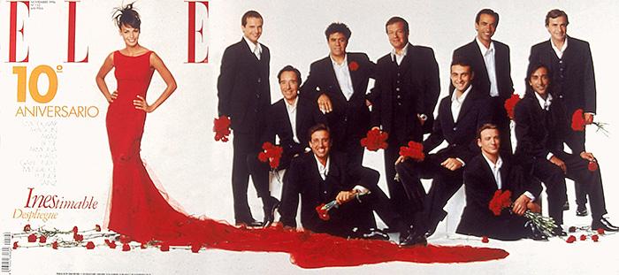 ELLE 122 DESPLEGABLE NOV 1996 - La revista ELLE celebra su 75 aniversario con una espectacular exposición