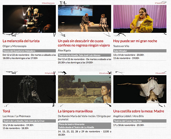 Festival de otoño de Madrid 2020 - Vanguardia y creación española en el 38 Festival de Otoño de Madrid