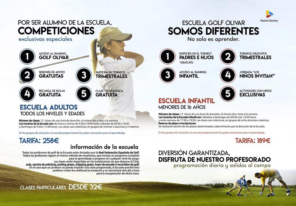 Golf Olivar de la Hinojosa - Escuela de Golf Olivar de la Hinojosa Madrid. Cursos Trimestrales