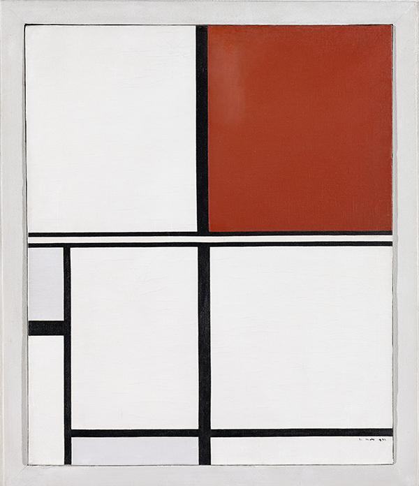 MARLOW MOSS. Blanco negro rojo y gris. 1932 - Mondrian o cuando el arte cambió su cultura visual, en el Reina Sofía de Madrid