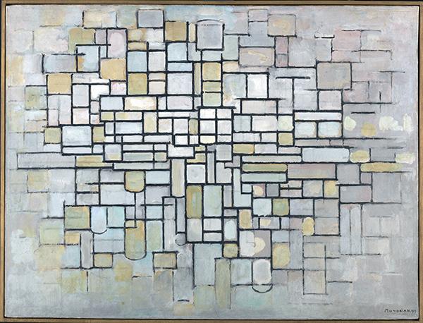 Mondrian Composición II. 1913 - Mondrian o cuando el arte cambió su cultura visual, en el Reina Sofía de Madrid