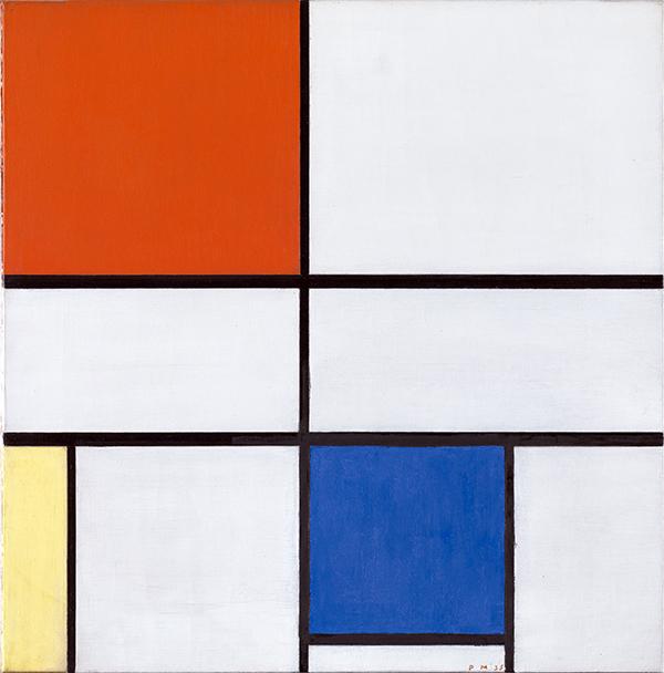 Mondrian. Composición C noIII con rojo amarillo y azul. 1935. - Mondrian o cuando el arte cambió su cultura visual, en el Reina Sofía de Madrid