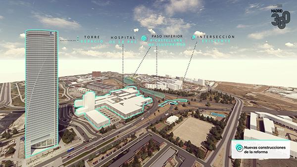 Nuevo Norte Madrid 002 - Las obras de Nudo Norte Madrid comenzarán en diciembre