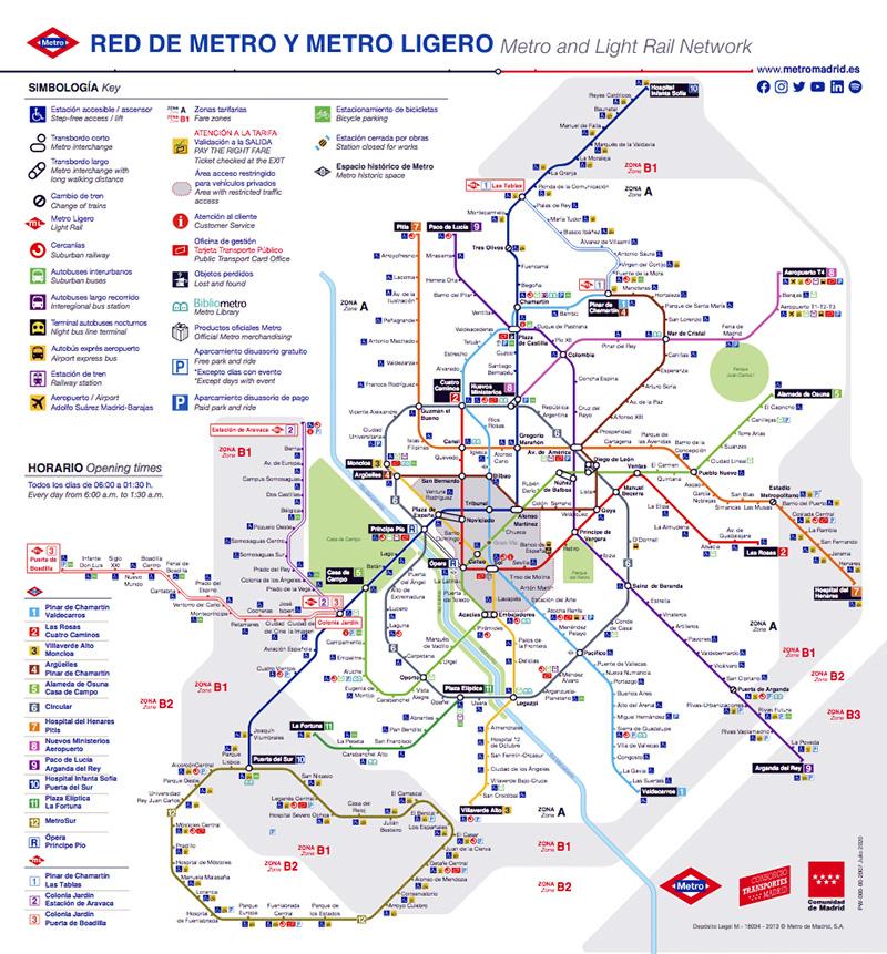 Plano de Metro de Madrid - Plano de Metro de Madrid